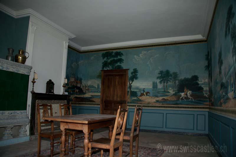chateau d 39 oron le salon de chasse. Black Bedroom Furniture Sets. Home Design Ideas