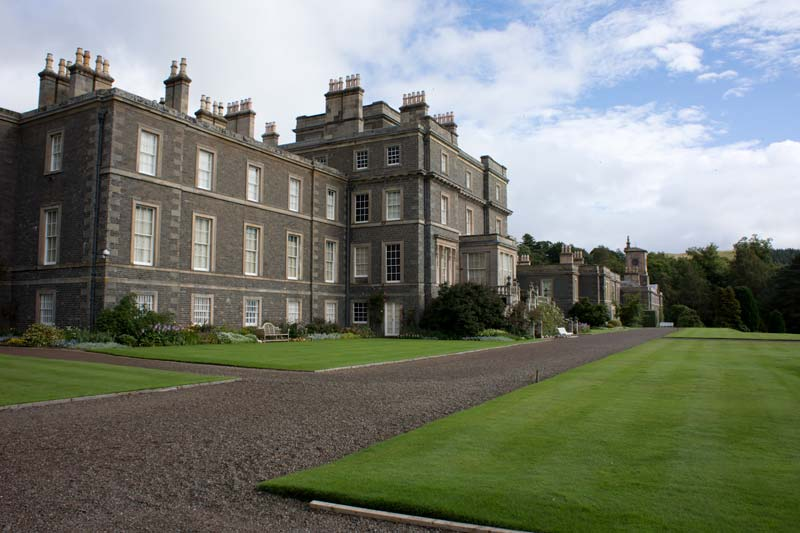 House Built Into Hill >> Scottish castles: Bowhill House